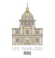 Les Invalides Paris vector image vector image
