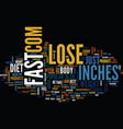 lose inches fast text background word cloud vector image vector image