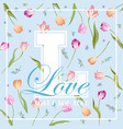 love romantic floral design for prints fabric vector image vector image