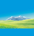 mountain landscape with alpine meadows vector image