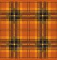 orange tartan plaid seamless pattern vector image vector image