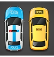 Police And Taxi Cars vector image vector image