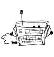 radio hand drawn isolated vector image