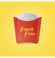 Realistic French Fries red Paper Box vector image vector image