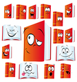red book cartoon vector image vector image