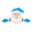 santa blue costume vector image vector image