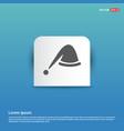 santa hat icon - blue sticker button vector image vector image