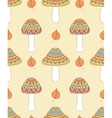 seamless pattern with abstract mushrooms vector image