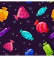 Seamless pattern with bright cartoon candies vector image vector image