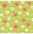 seamless pattern with tulips and grass Floral vector image vector image