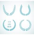 set laurel wreaths vector image
