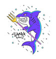 shark rules vector image
