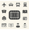 soccer symbol icons access to football stadium vector image vector image