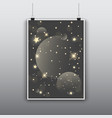 starry poster design vector image vector image
