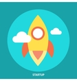 Start Up Rocket Icon vector image