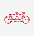 tandem bike label vector image