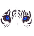 tiger eyes mascot graphic in vector image vector image