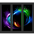 Vertical banner with abstract background vector image vector image