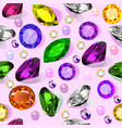 vintage seamless pattern with gems vector image vector image