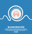 Auto sign icon Blue and white abstract background vector image