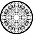 black outline mandala ornament intricate pattern vector image