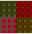 set plaid patterns tartan fabric textile vector image