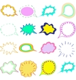 Blank empty colorful speech bubbles clouds set vector image