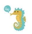 cute cartoon ocean seahorse vector image