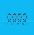 fish menu concept design background vector image