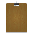 Wooded Clipboard Isolated vector image