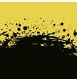 Splashes and drops background Blue black banner vector image