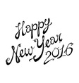 2016 Happy New Year lettering Greeting Card design vector image vector image