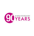 90 years logo concept vector image vector image