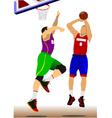 al 1110 basketball 02 vector image vector image