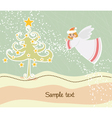 angel with tree vector image vector image