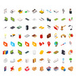 big set of isometric volumetric of icons on a vector image vector image
