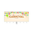 billboard with carnival poster volumetric retro vector image