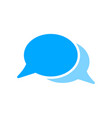 blank bubble chat message icon vector image