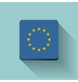 Button with flag of Europe vector image vector image