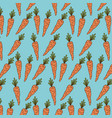 carrots pattern colorful in aquamarine background vector image