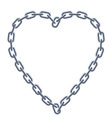 chain silver heart vector image vector image