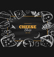 cheese collection hand drawn 3 vector image