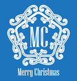 Christmas decorative lace Elegant hipster logo vector image vector image