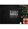 christmas wooden background with christmas element vector image vector image