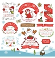 ChristmasNew Year 2016 decorationlabels set vector image vector image