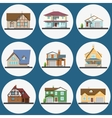 Colorful Flat Residential Houses set vector image vector image