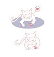 cute cat massage on bed vector image