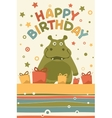 cute happy birthday card vector image