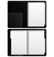 diary notebook ring binder a blank notebook vector image