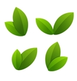 Ecology icon set green leaves vector image vector image